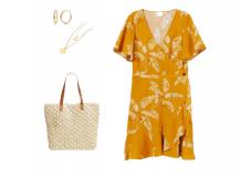 Outfit des Tages: Gelb und Gold