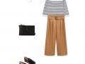 Outfit des Tages: Gestreifter Pullover und Lederhose
