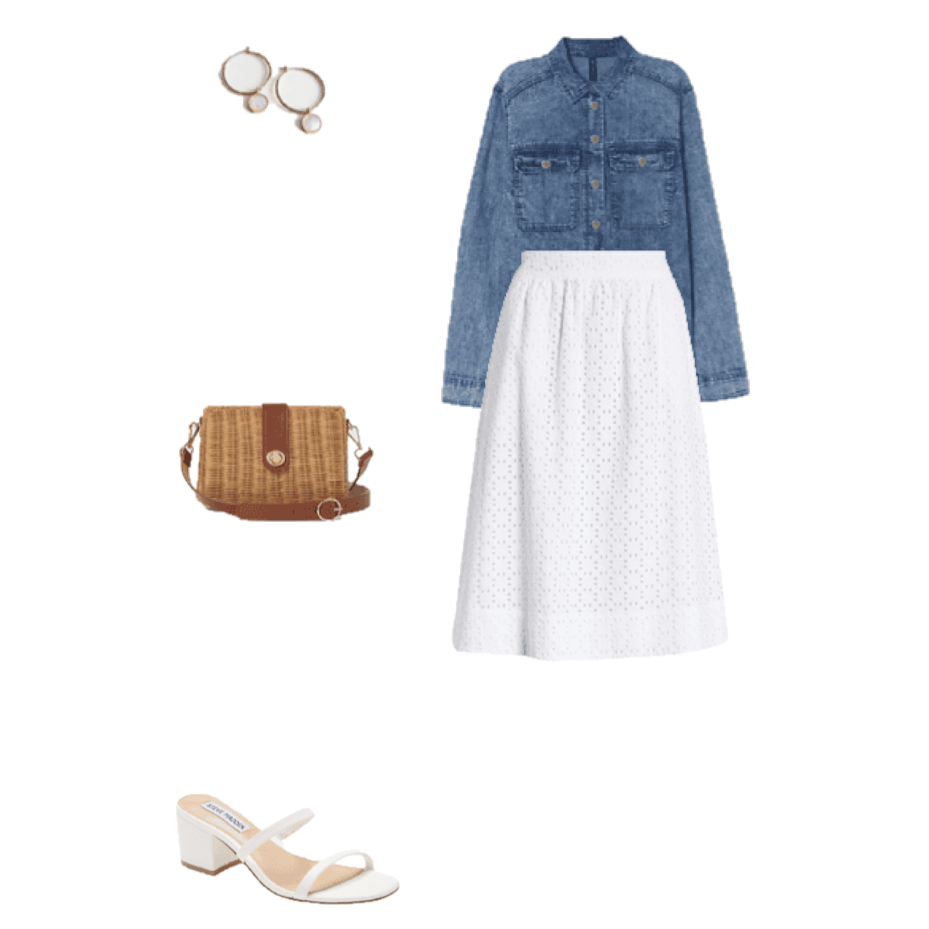 Look of the Day: Denim and White