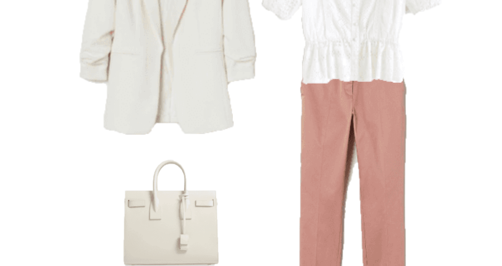 Look of the Day: White and Blush for the Office
