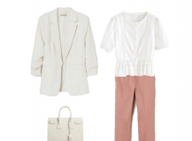 Look des Tages: Weiß und Rosa für das Büro