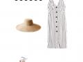 Outfit des Tages: ein Nadelstreifenkleid für diesen Sommer