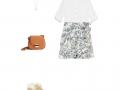 Dos formas de llevar una minifalda estampada