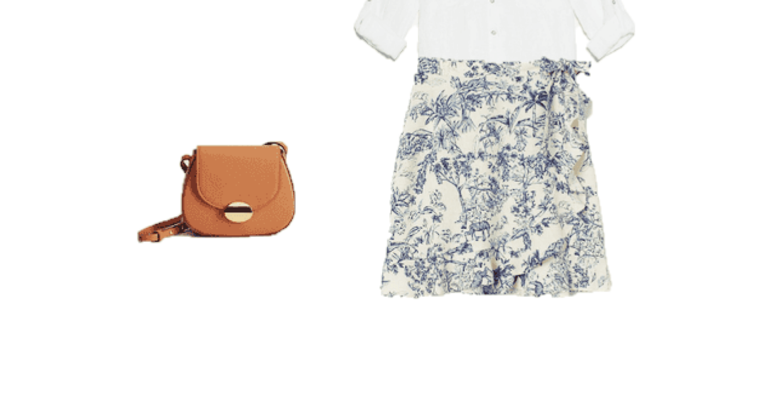 Two ways to wear a printed mini skirt