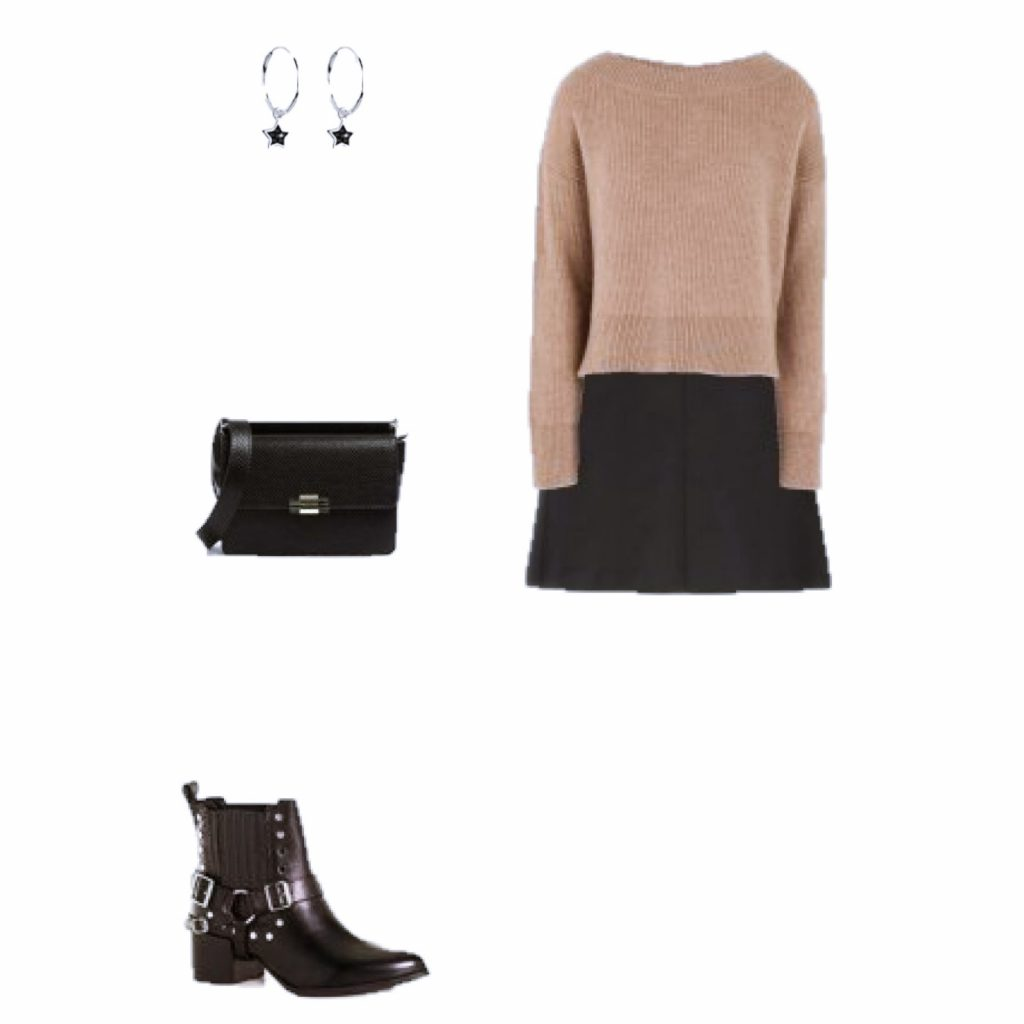 Look of the Day: camel and black