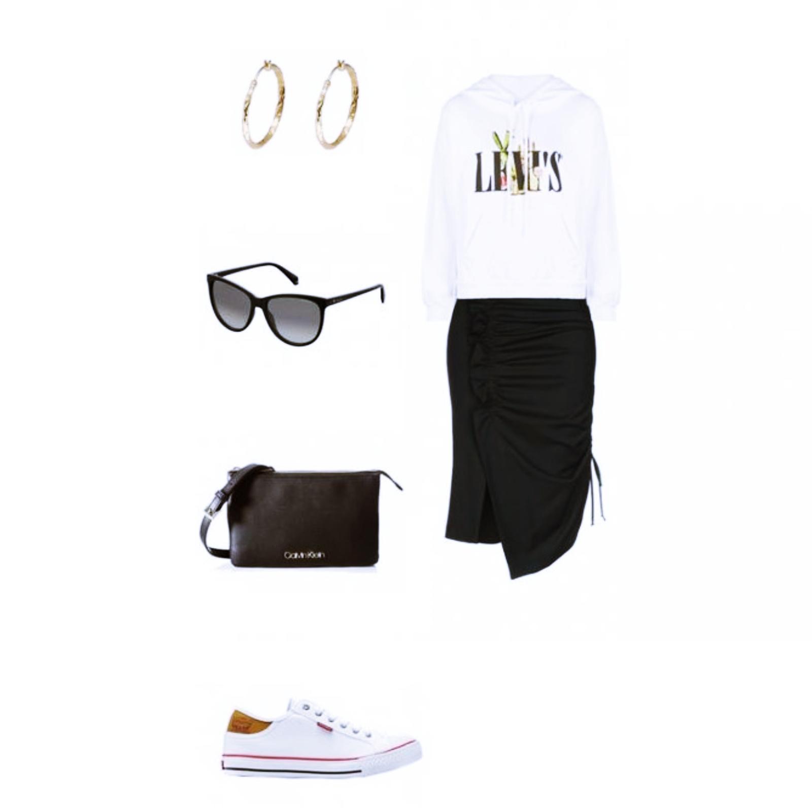 Outfit des Tages: ein lässiger Look mit einem Hoodie