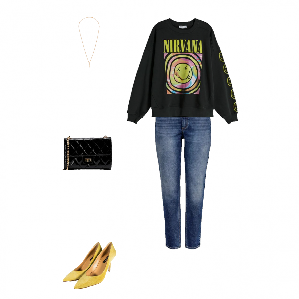 Outfit of the day: sweatshirt and heels